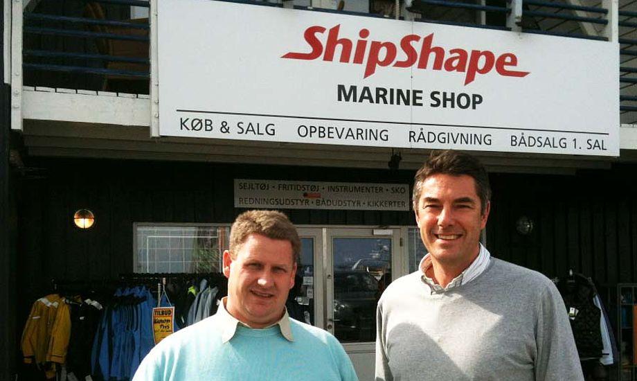 Bo Ebsen, tv., med Martin Rasmussen, ejer af ShipShape.