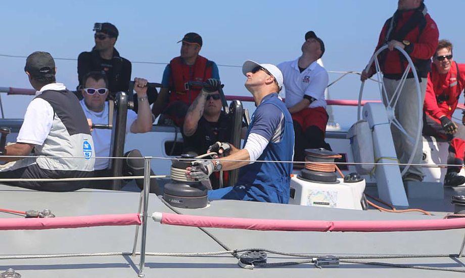 Jens Dolmer i blåt, trimmer her på Big Challenge under Palby Fyn Cup. Foto: Troels Lykke