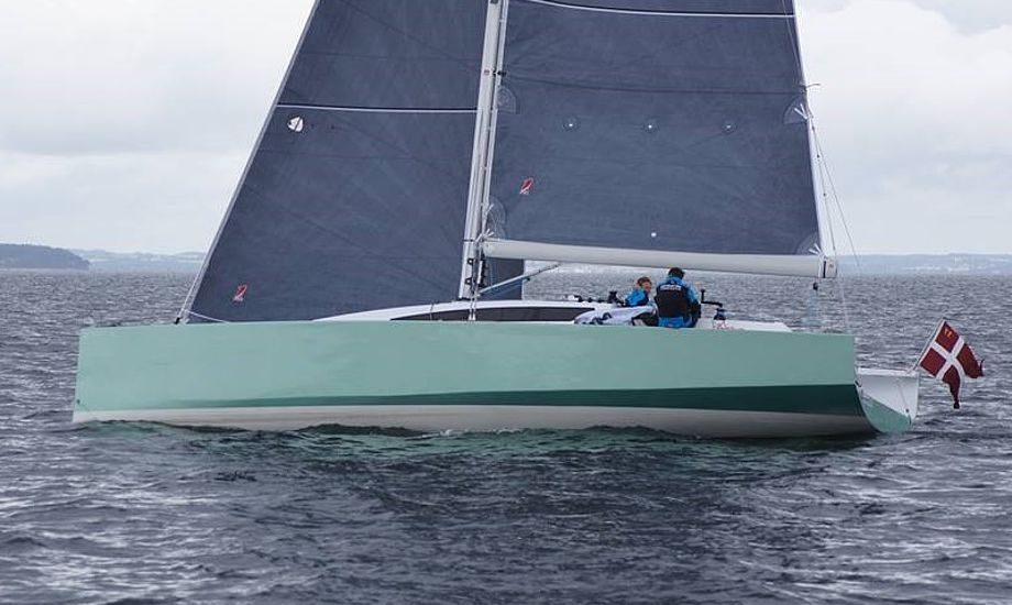 Frost 38 fra Faaborg er ultra let med 3600 kilo, hvoraf T-kølen vejer 1400 kilo. Foto: Jakob Frost