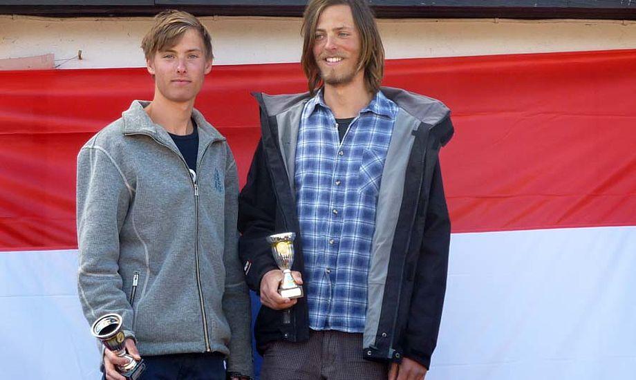 Nicolaj Bjørnholt, tv., og Daniel Bjørnholt ses her. Han og broderen er blevet nummer otte to gange til EM, det er det bedste danske resultat i 25 åR. Foto: Katrine Bertelsen