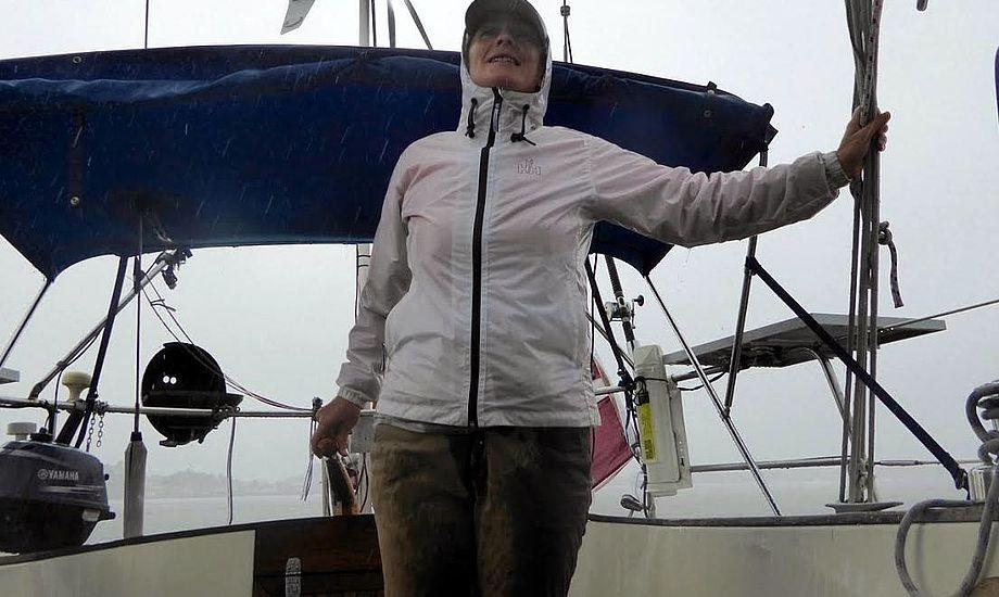 Den sidste uge har budt på regn og motorproblemer for Signe Storr i Florida. Foto: Privatfoto