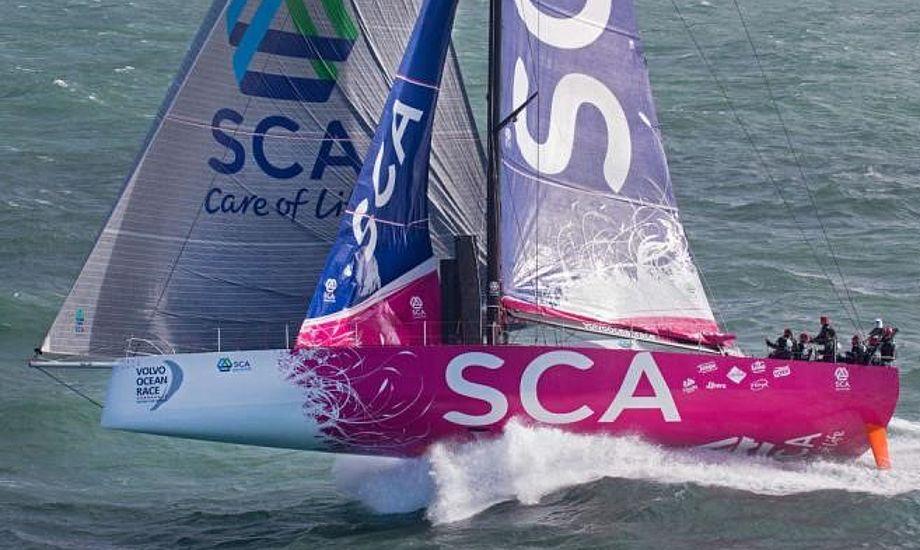 Team SCA var første hold kun bestående af kvinder i Volvo Ocean Race.