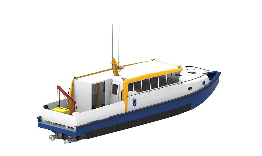 Den 15 meter ProZero ROV båd er designet med den ekstramulighed for som tillægsudstyr