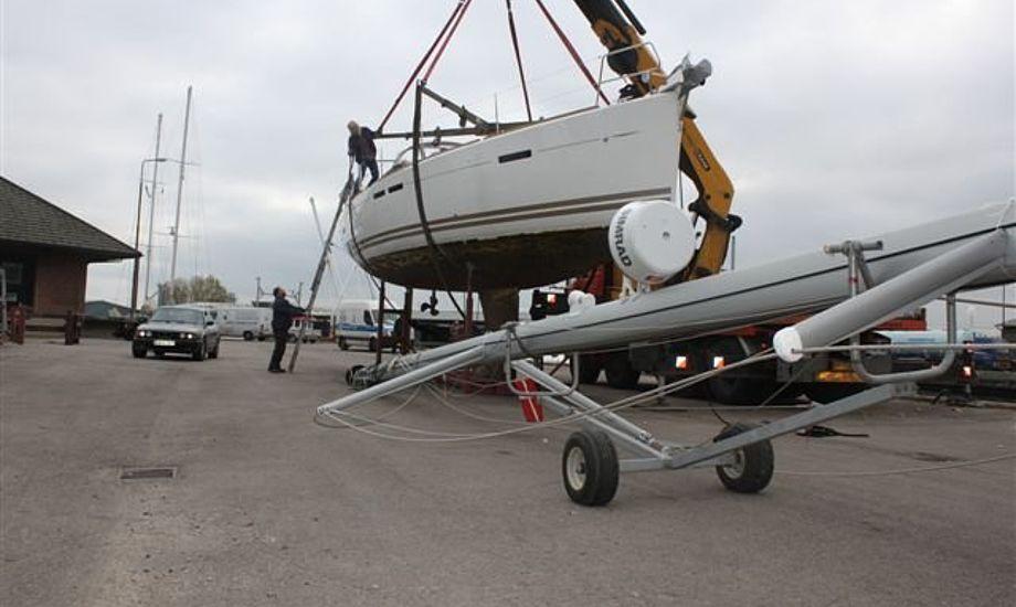 Vinteren står for døren, og bådene skal derfor snart søge mod landjorden. Foto: Horsens Yachtværft