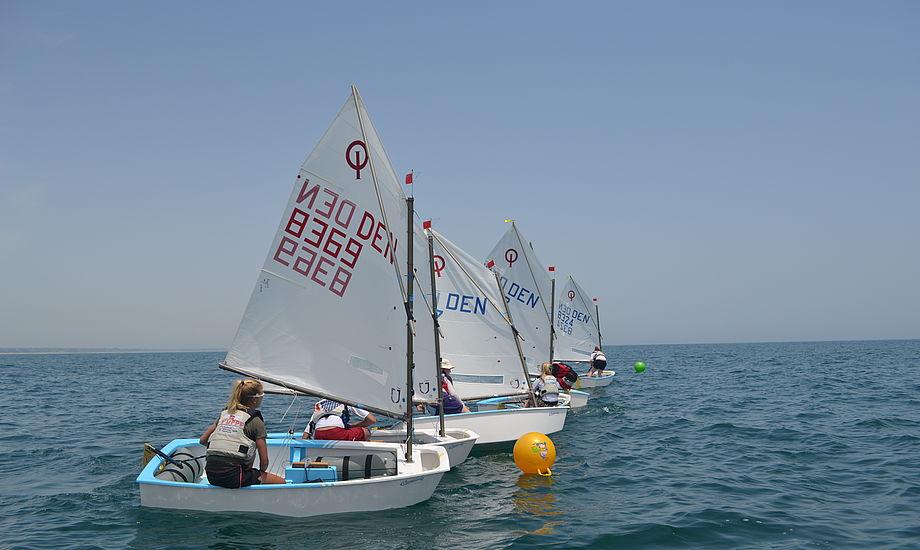 På billedet ses danske sejlere under EM i Portugal. Foto: Mathias Laugesen