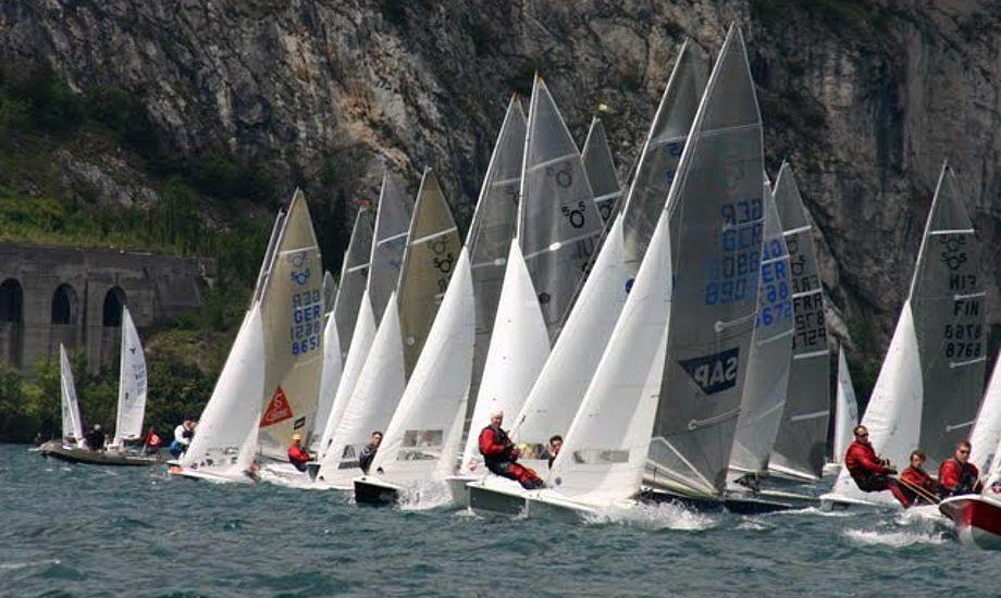 Vejret drillede verdenmestrene Hunger/Kleiner på Gardasøen.