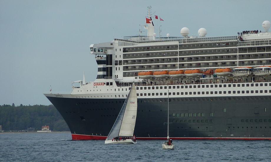 Tarok var paa bagbord halse...mod Queen Mary 2