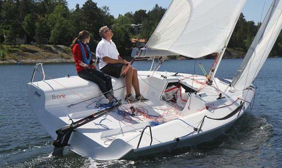 Den nye Bavaria B/one kan prøvesejles på bådmessen i Egå. Foto: Troels Lykke