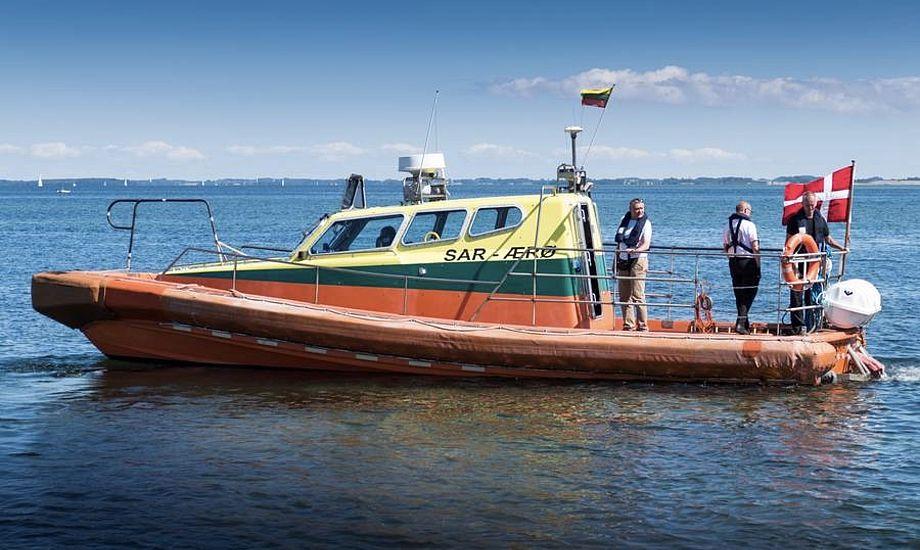 Ærø Søredningsforenings fartøj Erria Rescue er bygget af Norsafe-værftet i Norge. Tidligere tilhørte det offshore-rederiet Esvagt. Foto: Søren Stidsholt Nielsen, Søsiden, Fyns Amts Avis