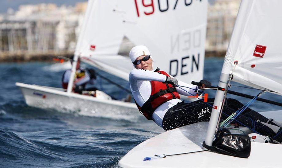 Udtagelsen til For-OL i Laser Radial føres på nuværende tidspunkt af Anne-Marie Rindom efter en flot 10. plads ved World Cup i Hyeres. Foto:Mick Anderson/ Dansk Sejlunion