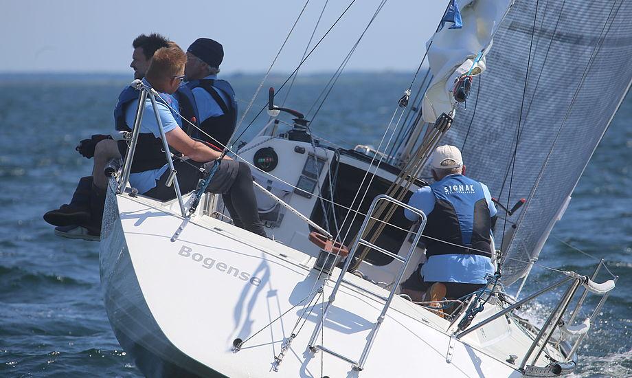 Her ses stævneleder i Palby Cup, Poul Erik Nielsen, der sejler med sin søn Ulrik Meyer. Foto: Troels Lykke