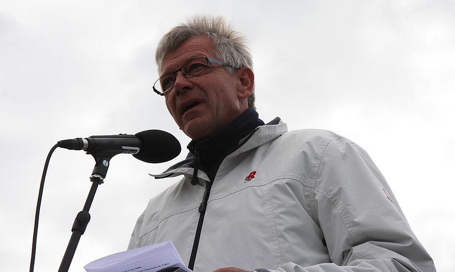 Poul Erik Nielsen fra Bogens Sejlklub. Han er også chef for Palby Fyn Cup. Foto: Troels Lykke