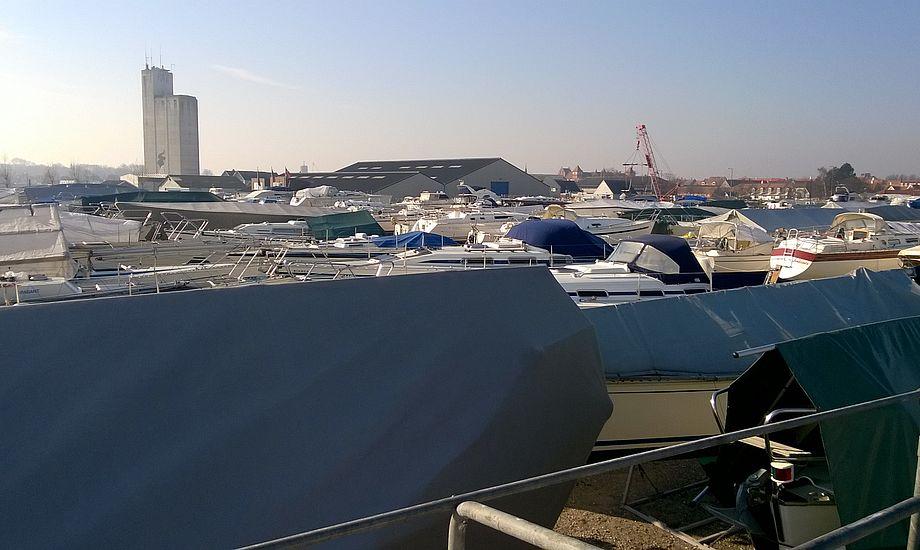 Sådan så der ud i Kerteminde, hvor der er mange brugte både. Foto: Troels Lykke