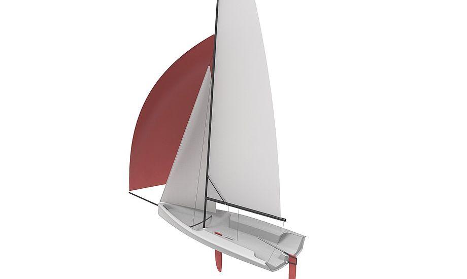 Seascape 14'eren kan størrelsesmæssigt sammenlignes med en 29'er, der dog har et større sejlareal. Grafik: Seascape