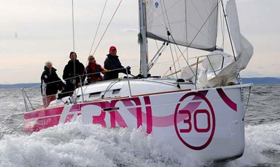 First 30 fra Beneteau. Der er nu bestilt så mange både, at man først kan få leveret en efter sommeren næste år. Foto: Seilas.no