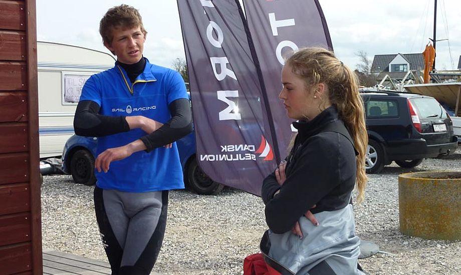 Frederik Rask og Natascha Saouma fra Skovshoved Sejlklub vandt TORM Grandprix i Hobie 16 SPI klassen. Nu venter den endelige udtagelse til YSWC. Foto: Katrine Bertelsen