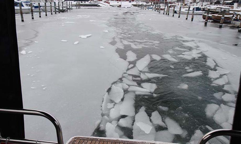 På vej ud af Helsingør havn med en Viknes 1030 Foto: Troels Lykke