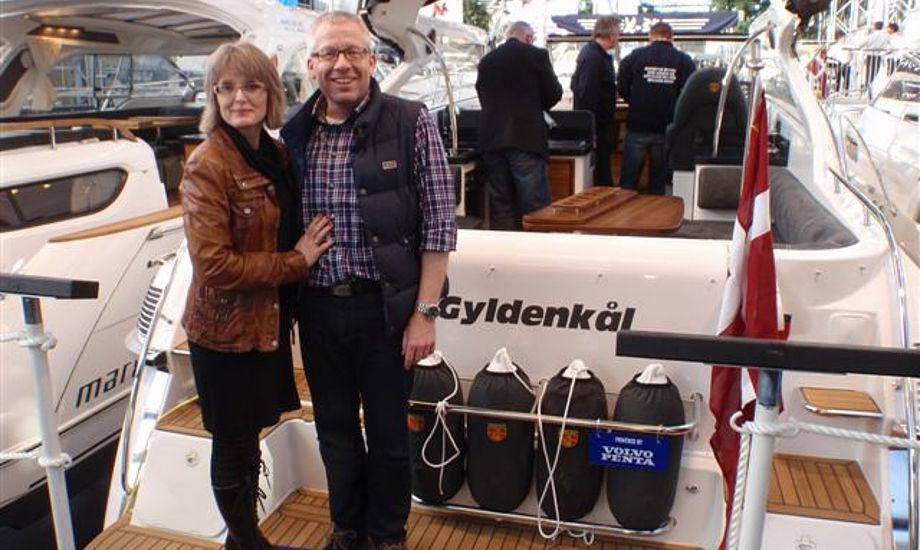Pia og Johnny Haahr købte deres tredje Marex en Marex 350 Cabriolet cruiser.