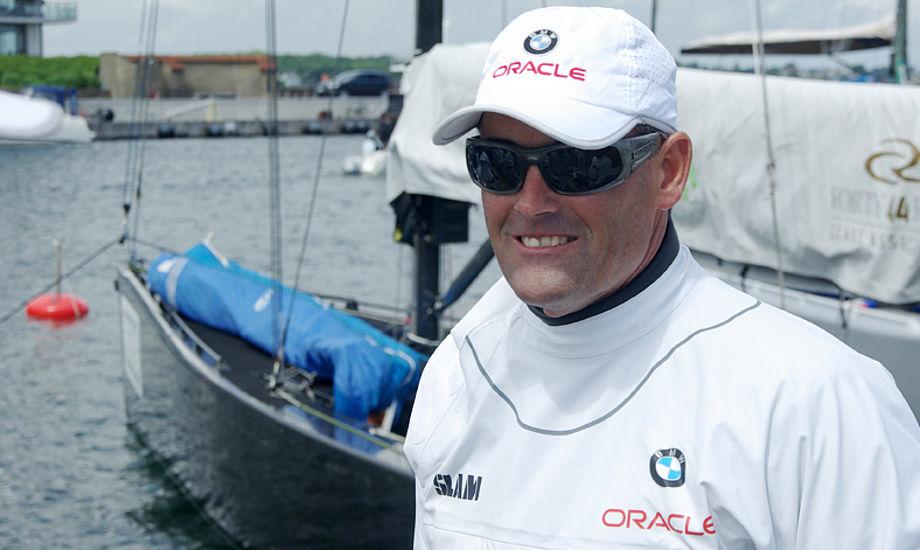 Russell Coutts i København, hvor han talte varmt om flerskrogsbåde til minbaad.dk og det kom til at holde stik. Foto: Troels Lykke