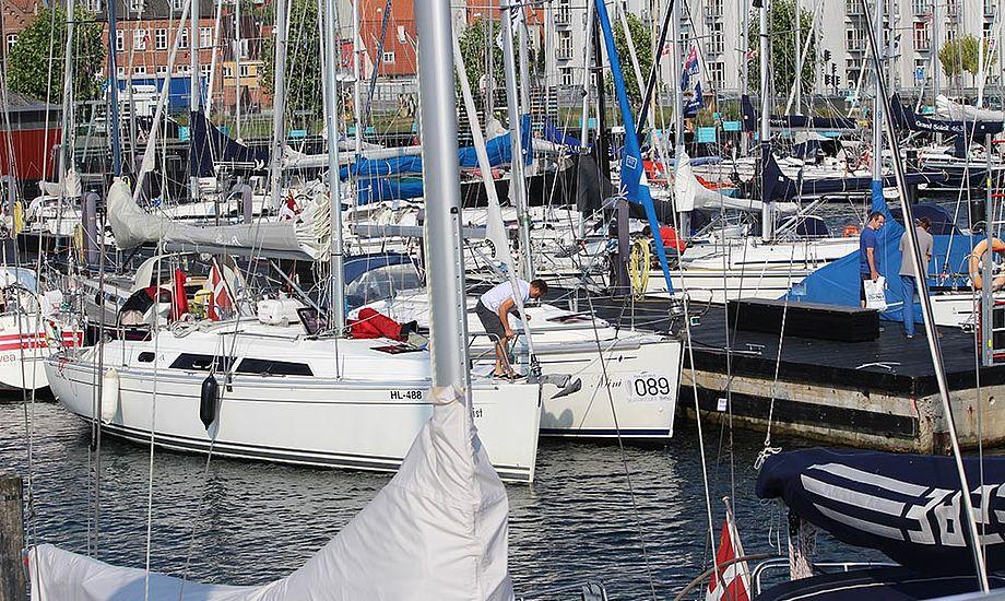 Der var fyldt godt i Svendborg Havn til Silverrudder 2014. Foto: BådNyt