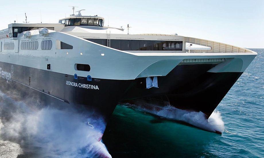 Rederiet Færgens trafiktal for 2016 viser rekordvækst for trafikken til de danske øer. Foto: Færgen
