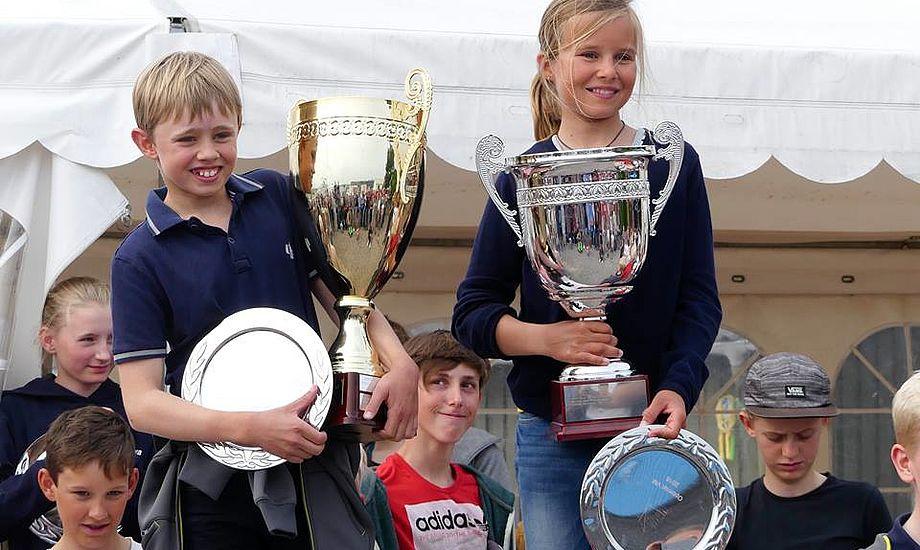 Malthe Ebdrup, vinder af ranglisten herhjemme og VM-udtagelse 2016, sammen med Helena Wolff fra Egå Sejlklub, bedste pige på en samlet 3. plads. Foto: Søren Ebdrup