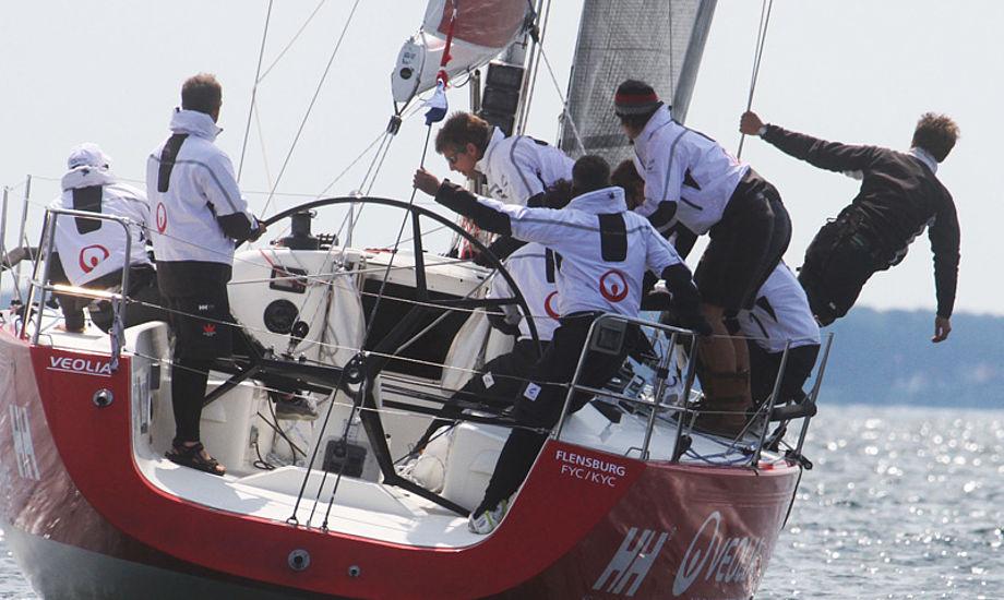 Torsten Bastiansen har fejret mange sejre med sin IMX 40. Her ses det dansk-tyske hold under Big Boat i Kerteminde. Foto: Troels Lykke