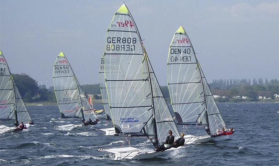 Publikum vil kunne følge sejladserne fra mole og broer lover Svendborg Sunds Sejlklub. Foto: sss.dk