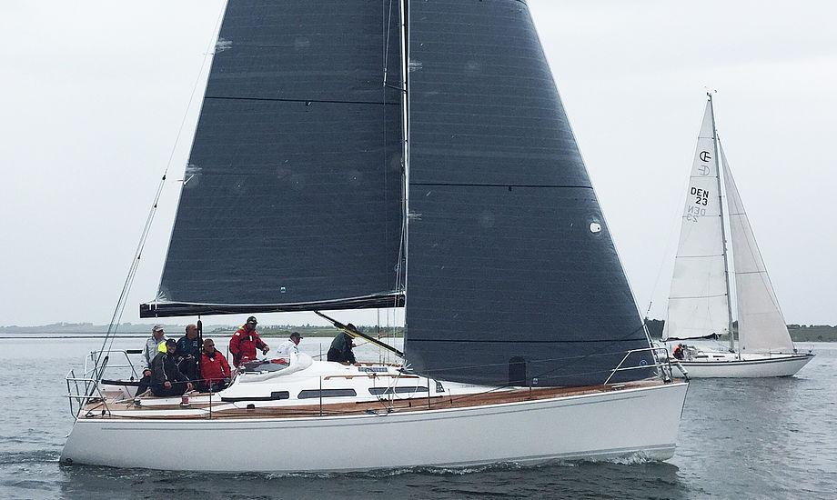 Luffe 3.6 ses her i Mors Cup 2015, der blev sejlet i let vejr.