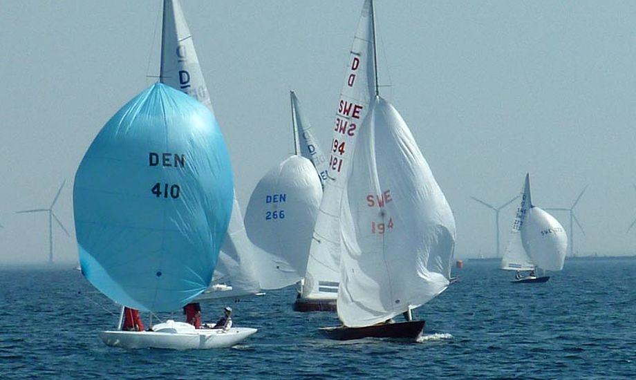 Efter gaten begyndte vinden at løje, og sejlerne blev taget i mål ved topmærket. Foto: Katrine Bertelsen