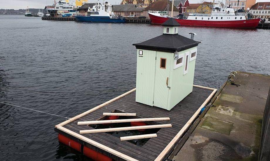 Havnebadet er inspireret af de små fyrhuse langs Svendborgsunds kyst. Foto: Søren Stidsholt Nielsen, Søsiden, Fyns Amts Avis