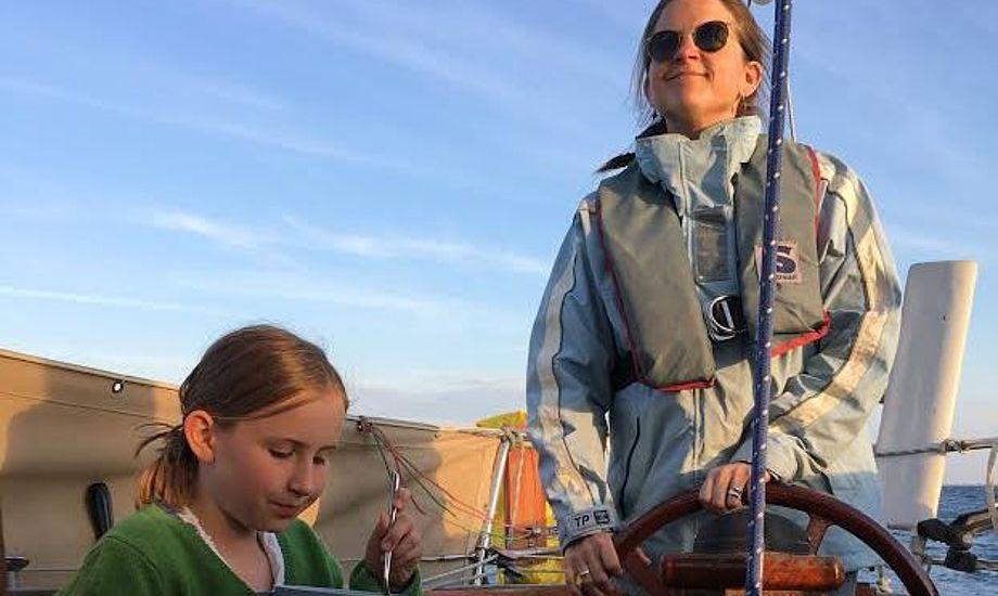 Malene og familien må droppe de oprindelige planer, da vejrudsigten ikke viser sig fra sin bedste side. Foto: Privatfoto