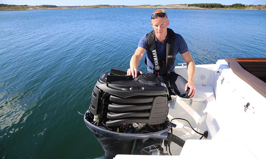 Preben Hansen: - Salget af både er også steget, siden vi har solgt flere påhængsmotorer i 2015, siger han til minbaad.dk. Foto: Troels Lykke