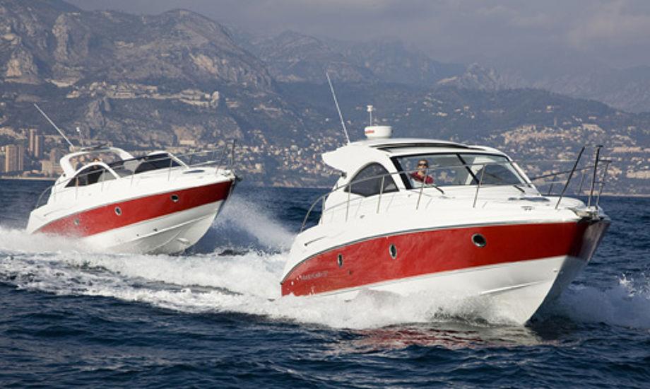 Monte Carlo 32 sælges for 1,1 mio. kroner under udstillingen, normalt koster den 1,48 mio. kroner, siger Henrik Engqvist fra BoatLife i Svendborg.