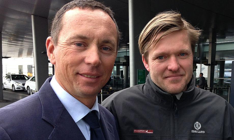 Federico Michetti fra Melges Europa, tv. og sejlmager Morten Halkier fra Sails Support. PR-foto