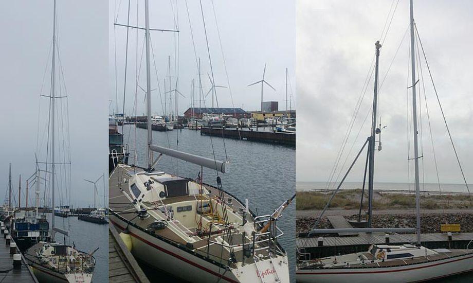 Med ny mast og rig, og snart nye sejl er Lipstick kampklar igen. Foto: Erik Venøbo