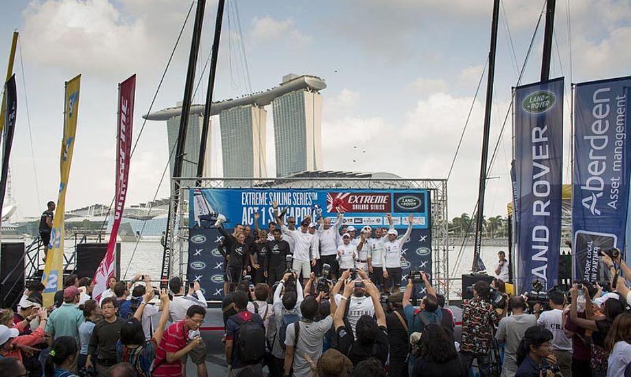 I Singapore var vinden var kaotisk, og tilskuerne, medierne og sponsorerne elskede det. Foto: Lloyd images