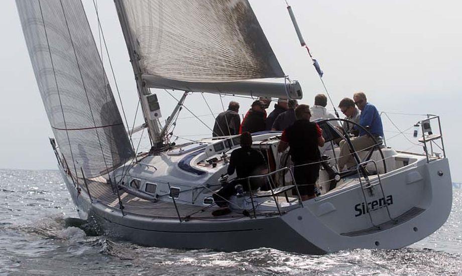 Sirena, X-40 med Peter Buhl, varmede i North Sails statistik, de vandt nemlig deres DH-løb, selvom både Quantum og Høj Jensen udfordrede dem. Foto: Troels Lykke