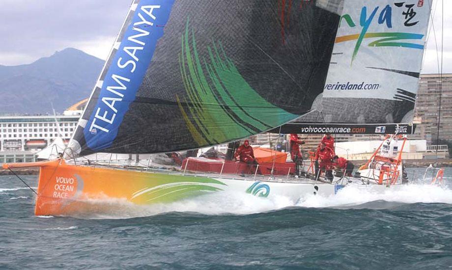 Team Sanya lige efter starten. Foto: Troels Lykke