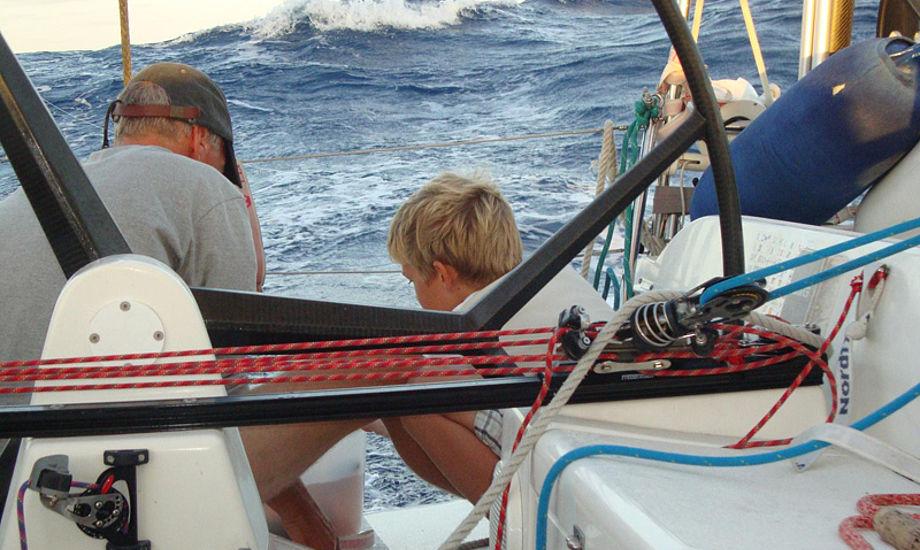 Jens Mohr og familie er vant til store bølger. Foto: Xabyte