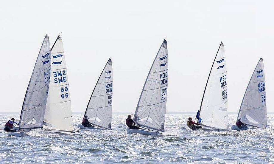 Aktive Finnjollesejlere var i Dragør, hvor frivillige og sejlere sikrede et super stævne. Foto: Mogens Hansen