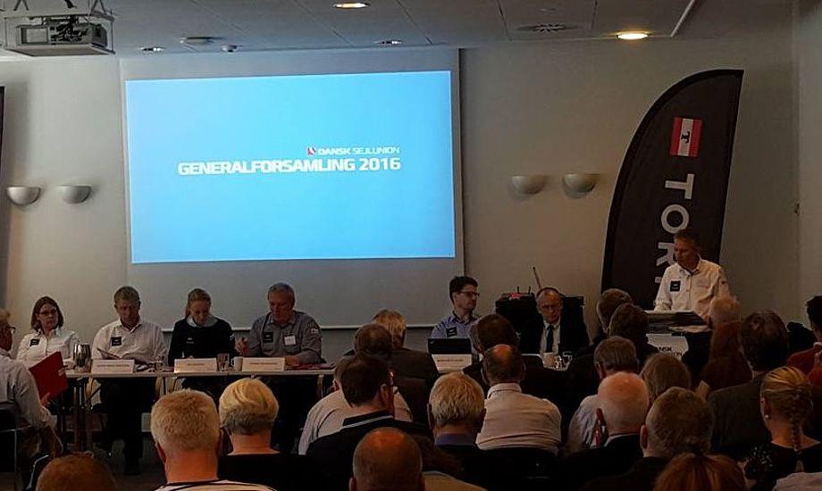 I alt 150 deltagere forventes at finde vej til Svendborg lørdag. Her billede fra sidste års generalforsamling. Foto: Troels Lykke