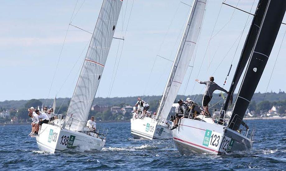 Her kæmpes i gruppe C i guldfeltet med den danske Italia 9.98 th. med Steen Christensen. Foto: Per Heegaard/KDY