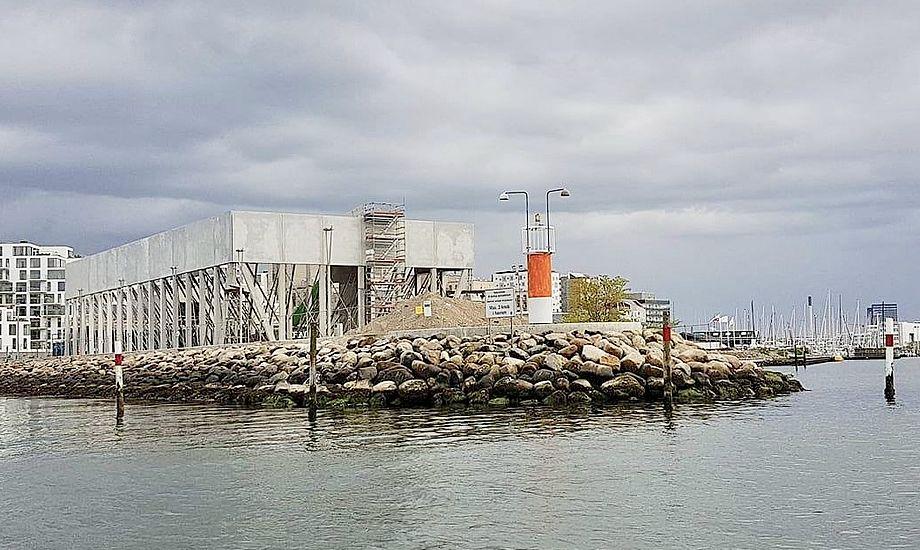 Sejlsportscenteret kommer til at huse såvel bådehaller som omklædnings- og undervisningsfaciliteter. Foto: Troels Lykke