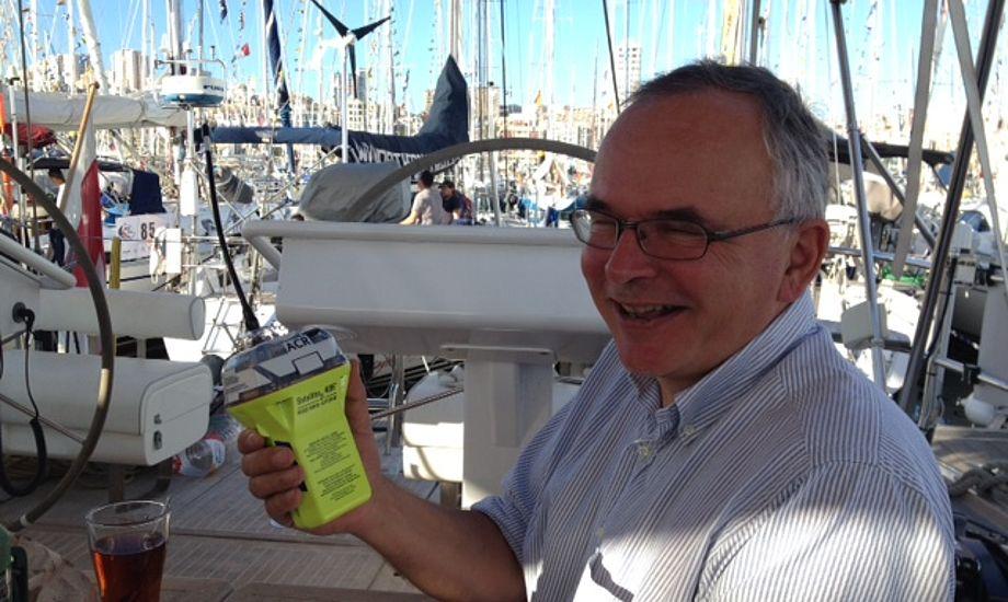 Gast Michael Nobel fra Skovshoved med Kong Neptuns afløser. Foto: Philipp Skafte-Holm