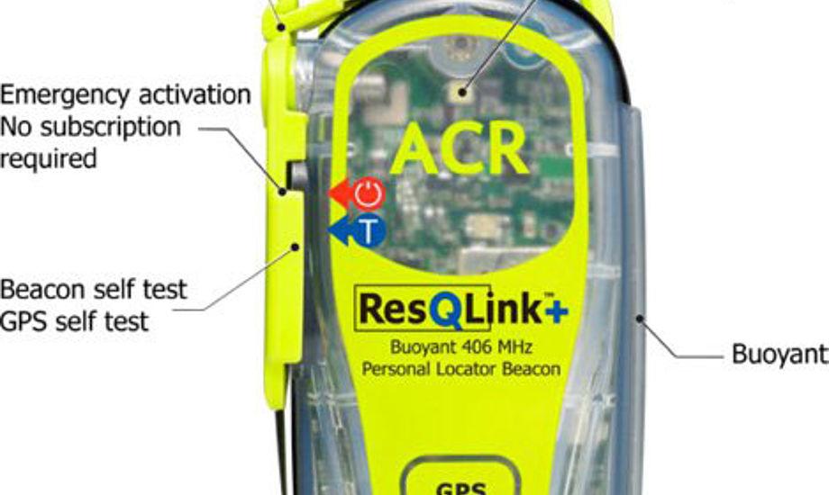PLB + er en lille og kraftfuld og stærk GPS nødsender med satellitsending. En PLB kan bæres i en lomme eller sættes fast på en redningsvest. PLB flyder. Den koster 2.695 kr.