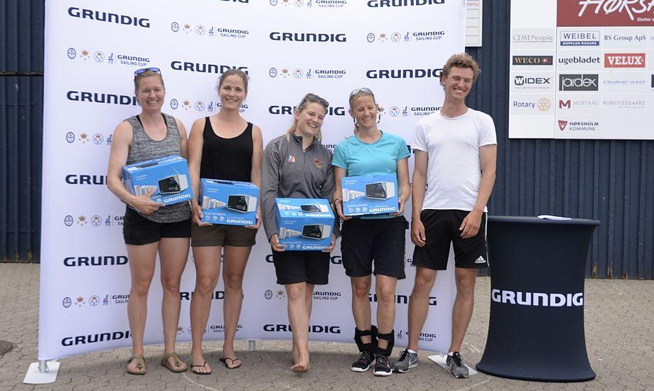 Tidligere OL-sejler Sarah Gunni med besætning var bedst i de lette vindforhold. Foto: Grundig Sailing Cup