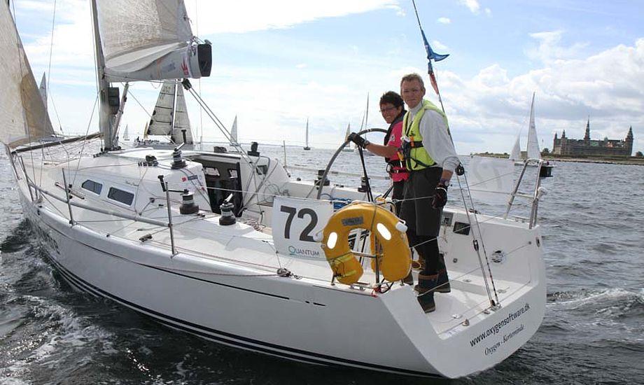 René Lokesgaard tog EM-bronze i X-35eren med skipper Morten Ulrikkeholm. Båden ligger til dagligt i Kerteminde. Foto: Troels Lykke