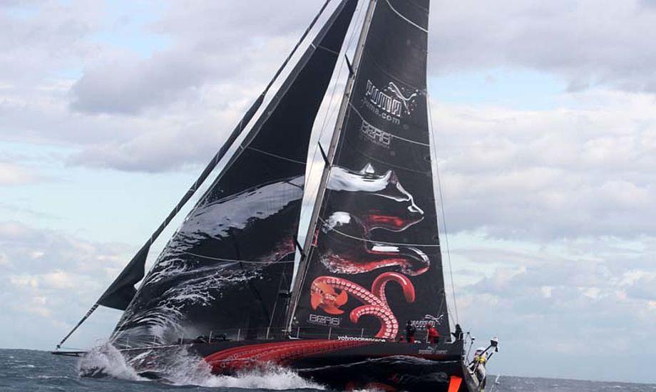 Puma, mens masten var om bord. Foto: Troels Lykke