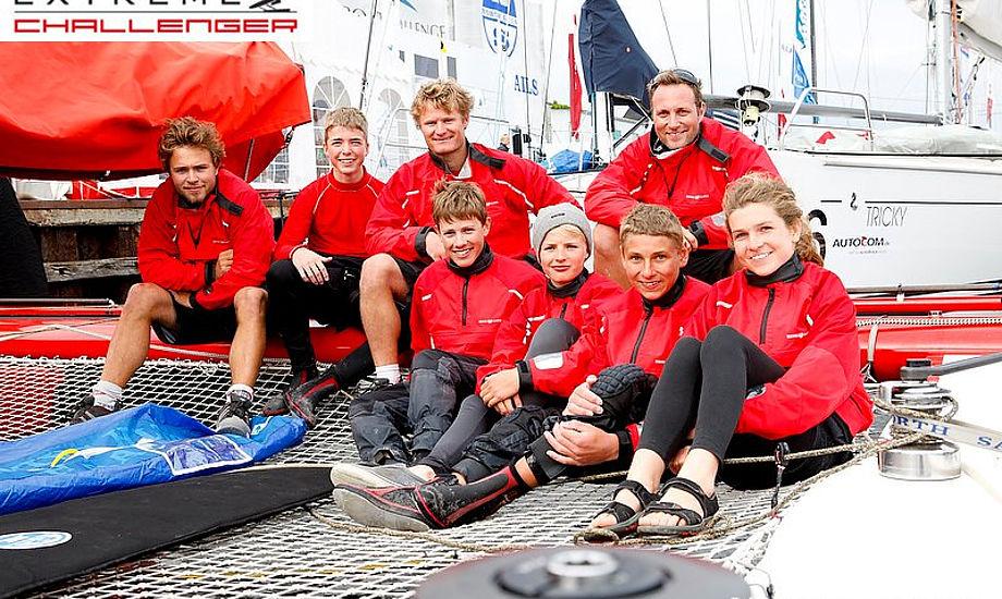Opti-sejlere fra Team Henri Lloyd på den danske Extreme 40 i Kerteminde. Foto. Mick Anderson Extreme Challenger
